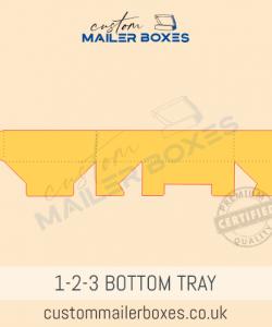 123 bottom tray Dieline